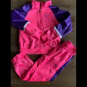 Girls Nike Jacket Pants Tracksuit sz 5 purple pink